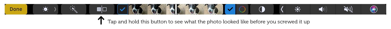 Alternar entre la foto ajustada y original