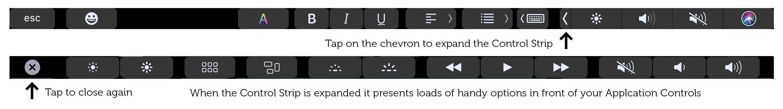 Accede a la barra de control desde cualquier aplicación.