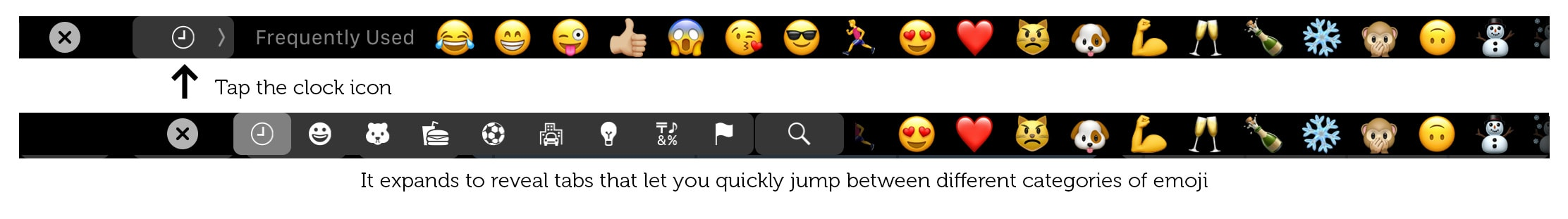 Find the right emoji fast with this Touch Bar tip.