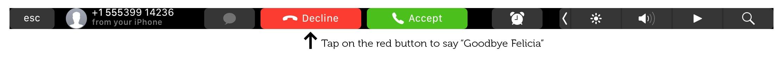 Usa tu barra táctil para filtrar llamadas