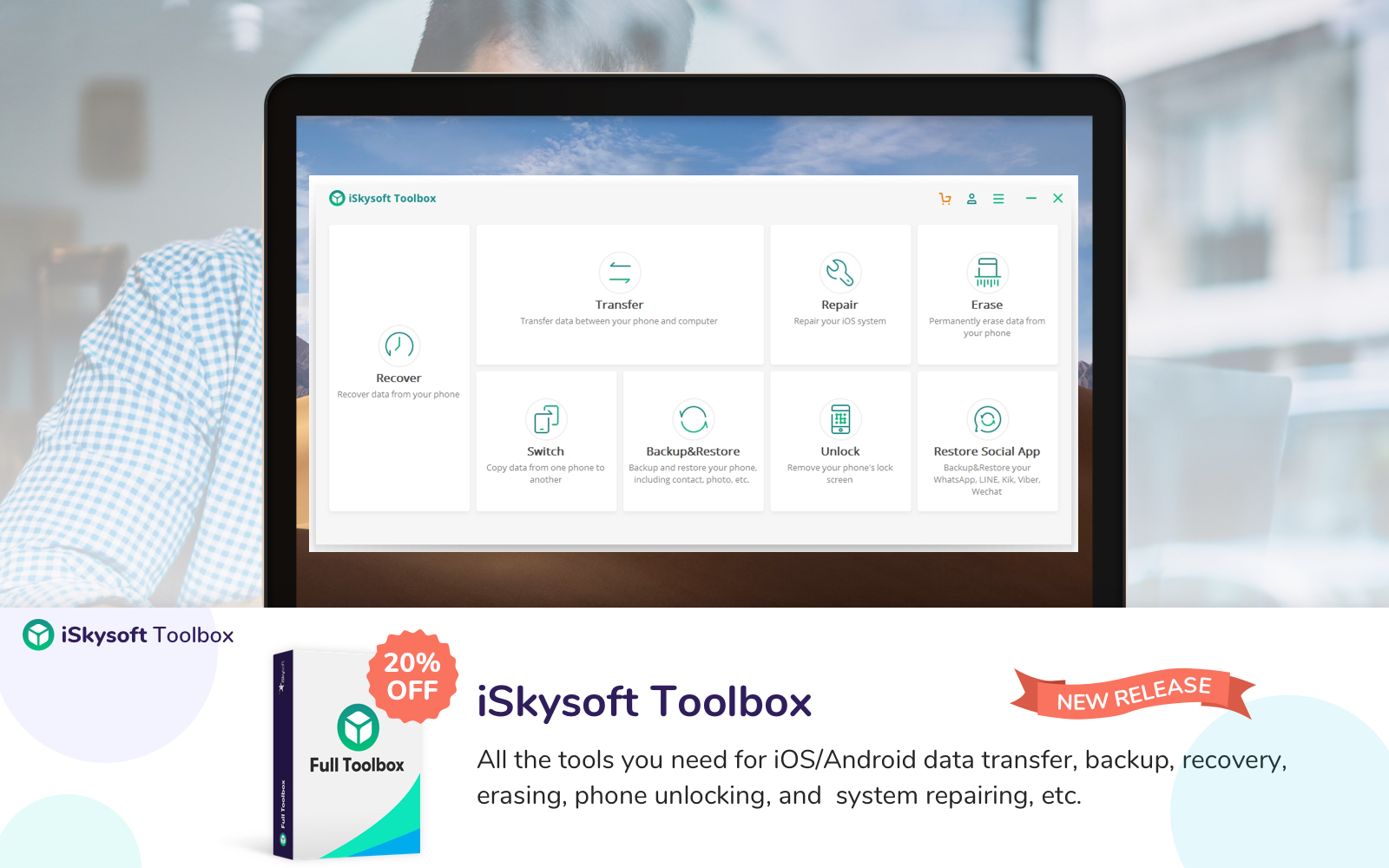 If you need to deal with data on iOS or Android devices, iSkysoft Toolbox can help.