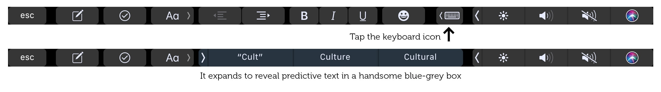 Get predictive text suggestions, just like the iOS keyboard