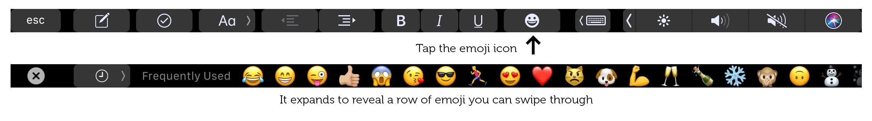 Emoji es la característica más práctica de la barra táctil.