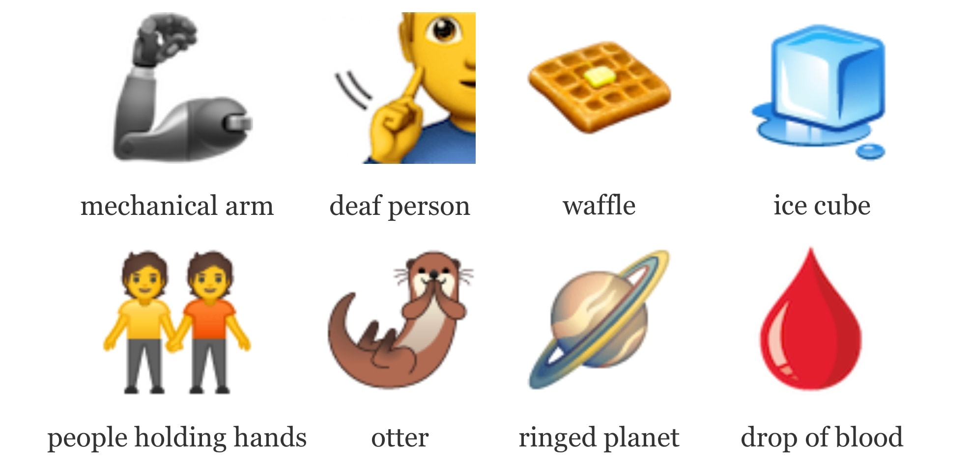 Here's a handful of the emoji headed for your iPhone.