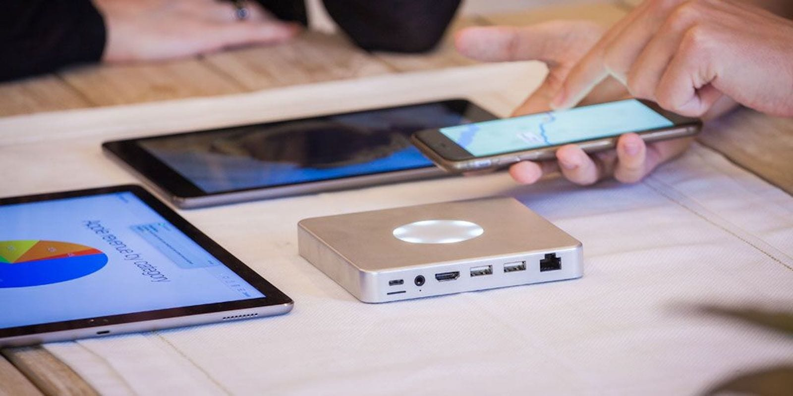 Keep all your and your team's devices connected and charged with a single, massively useful hub.