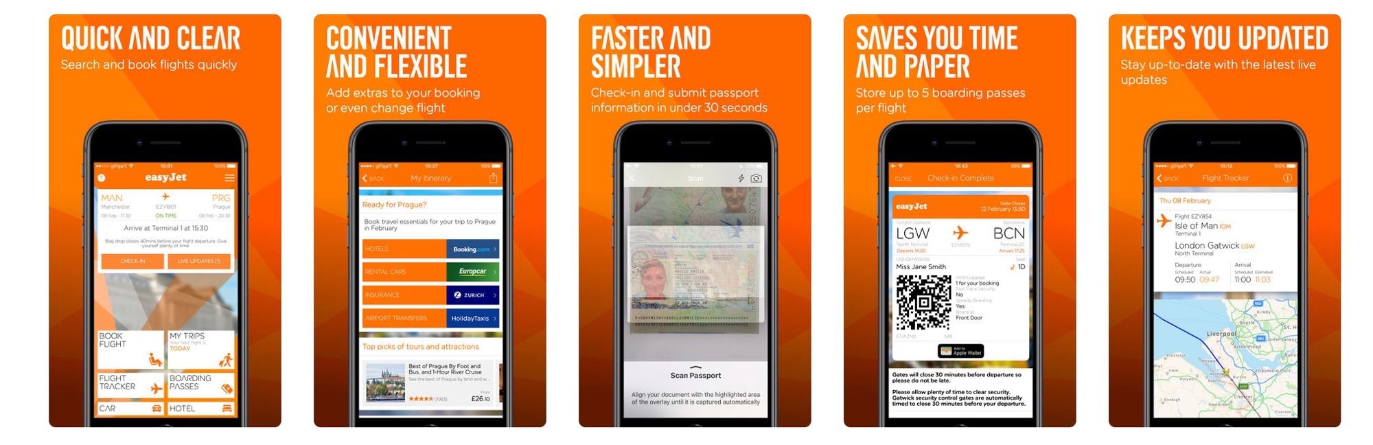 easyJet's app is tight as its plane's legroom.