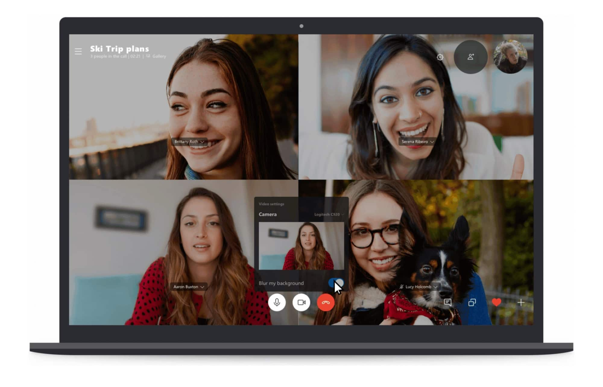 Skype now blurs backgrounds.