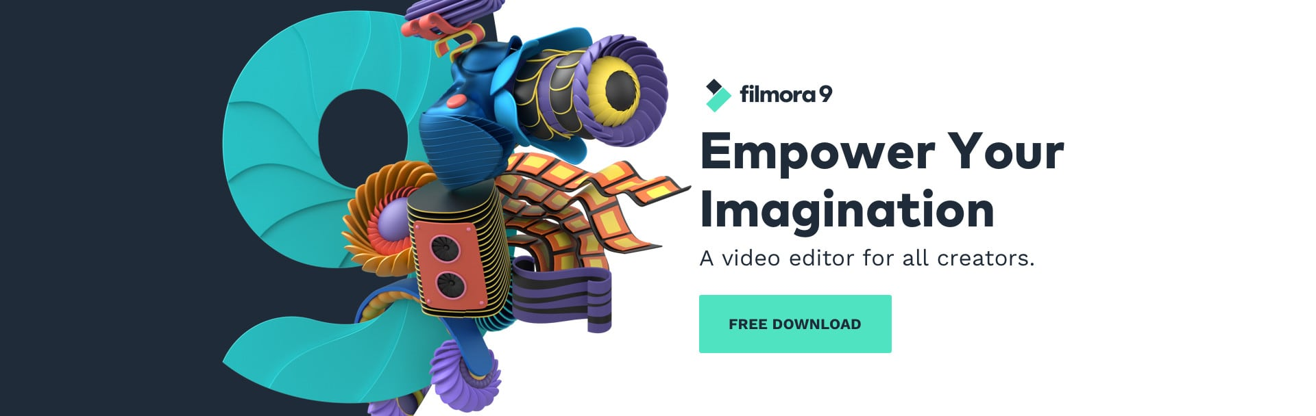 Filmora 9 is a video editor with professional capabilities, aimed at users of all skill levels.
