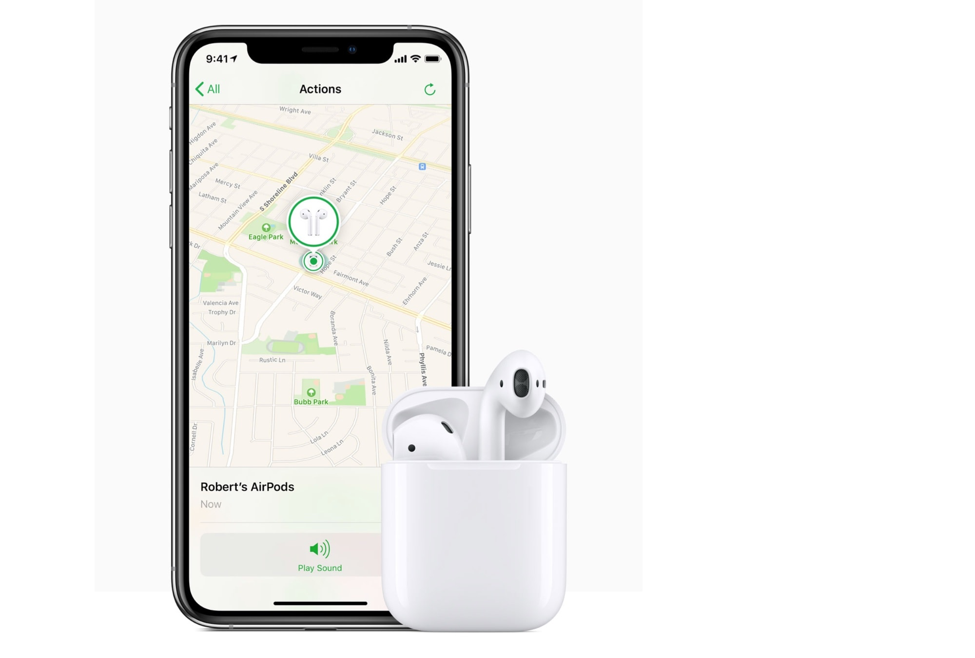 Find my iPhone can even find my AirPods.