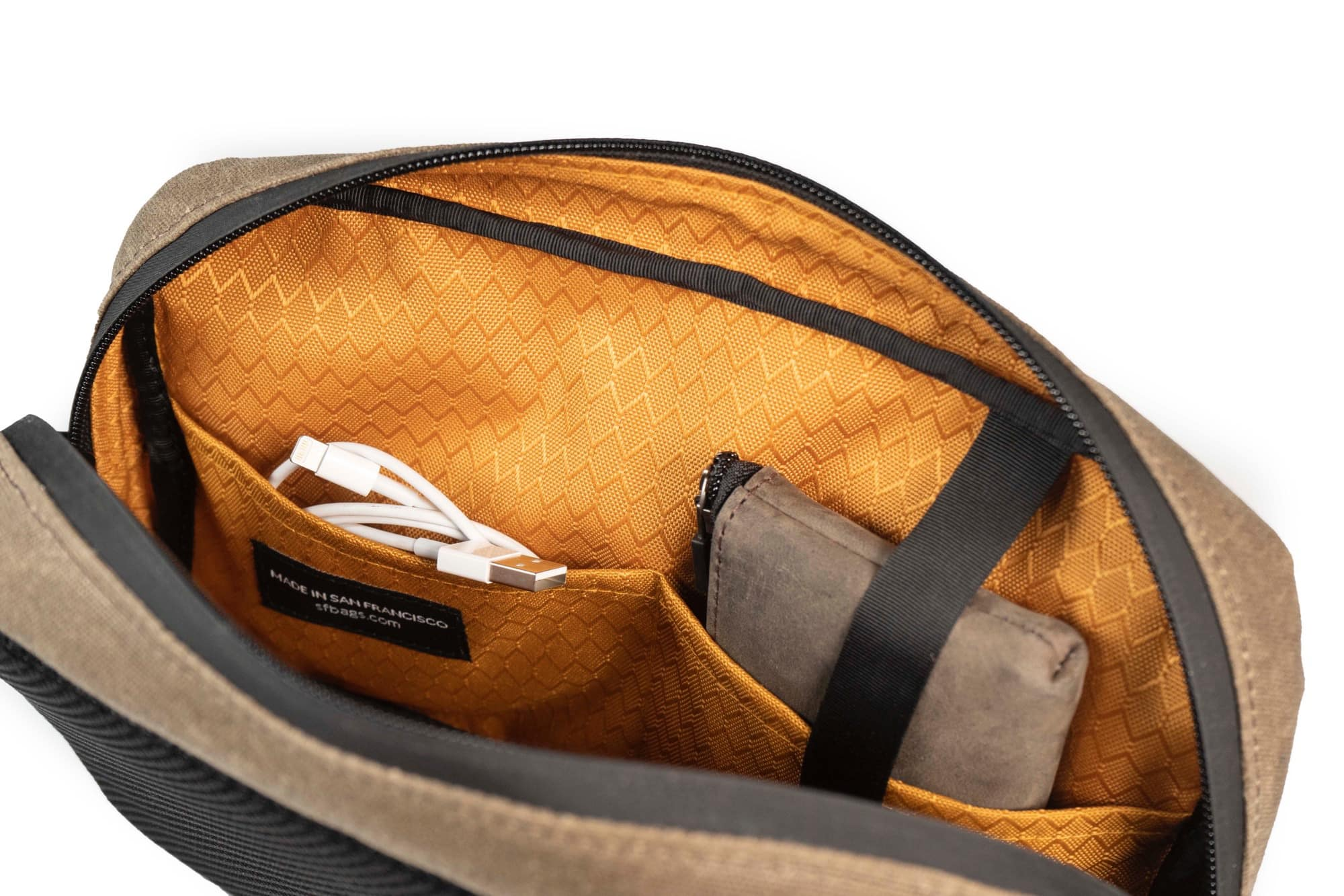 I dare you to lose something inside the Sutter Sling Pouch. I double-dare you.