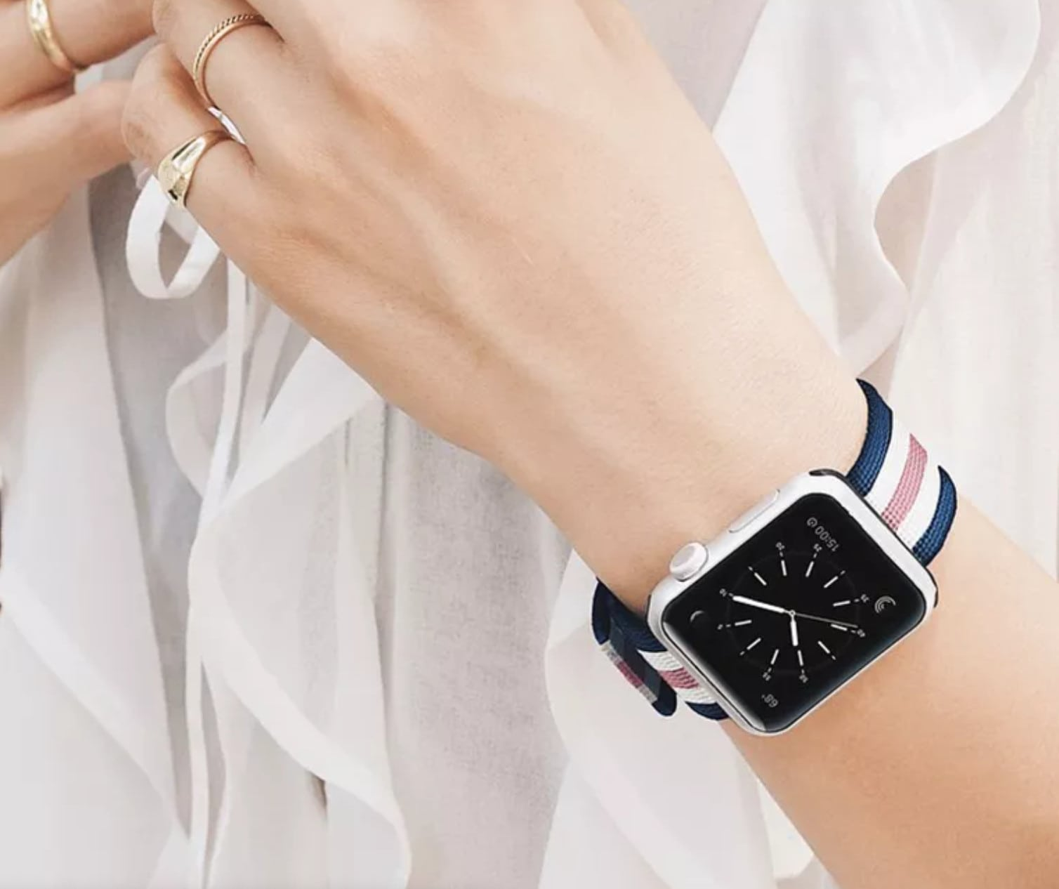 Ultra-soft and lightweight nylon Apple Watch bands make you feel like you're on cloud nine.