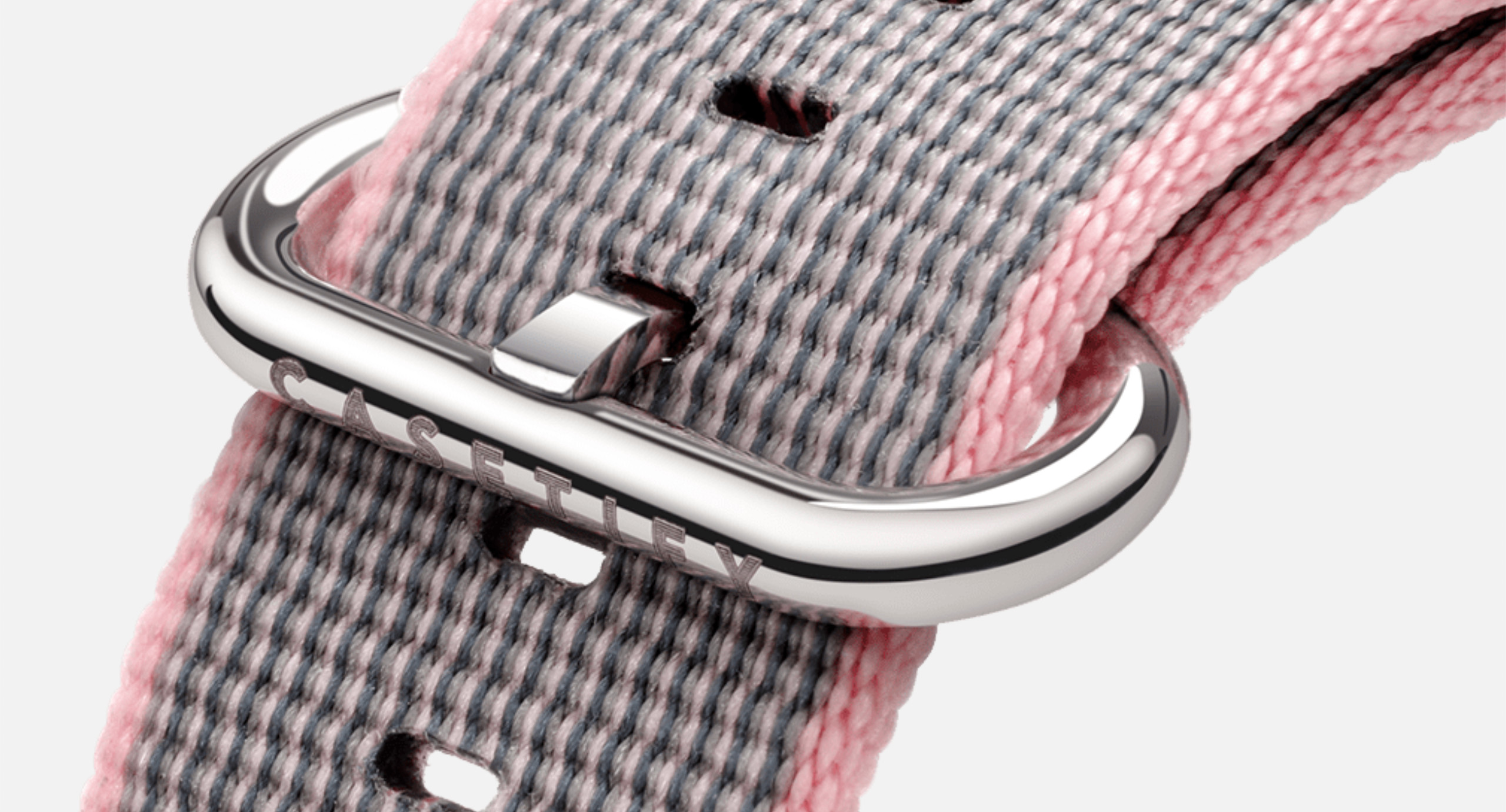The stainless steel connector and buckle allow you to easily switch out Apple Watch bands and adjust the fit.