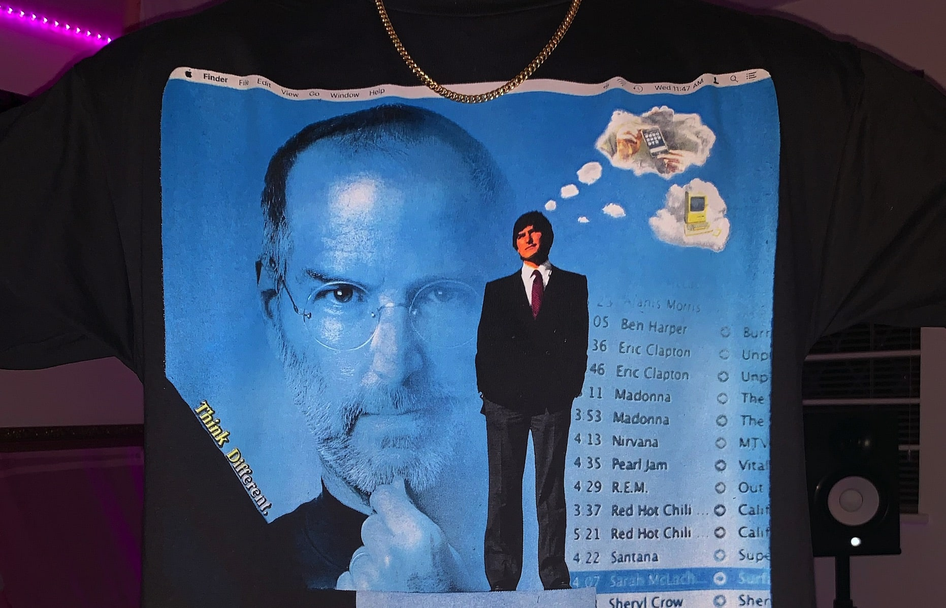 Rap T-shirt Designer Gives Steve Jobs the Hip-hop Fashion Treatment