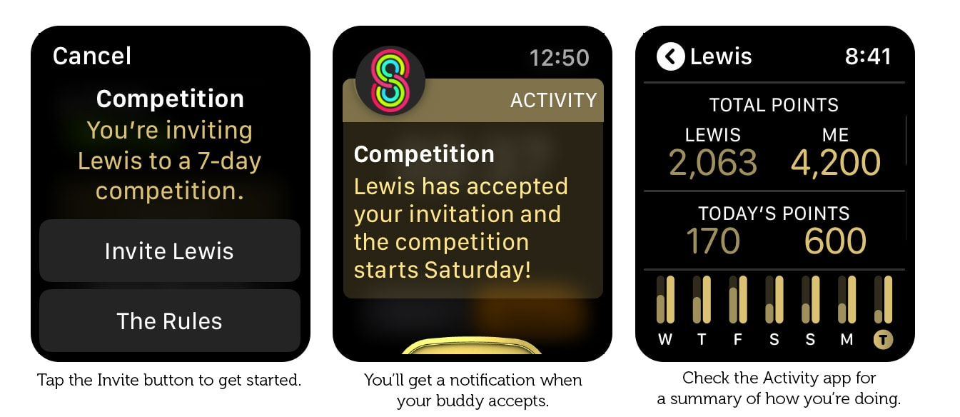 Manage competitions in the Activity app