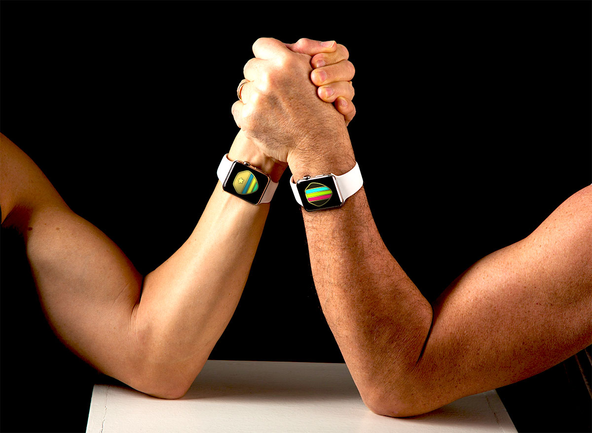 Apple Watch arm wrestling