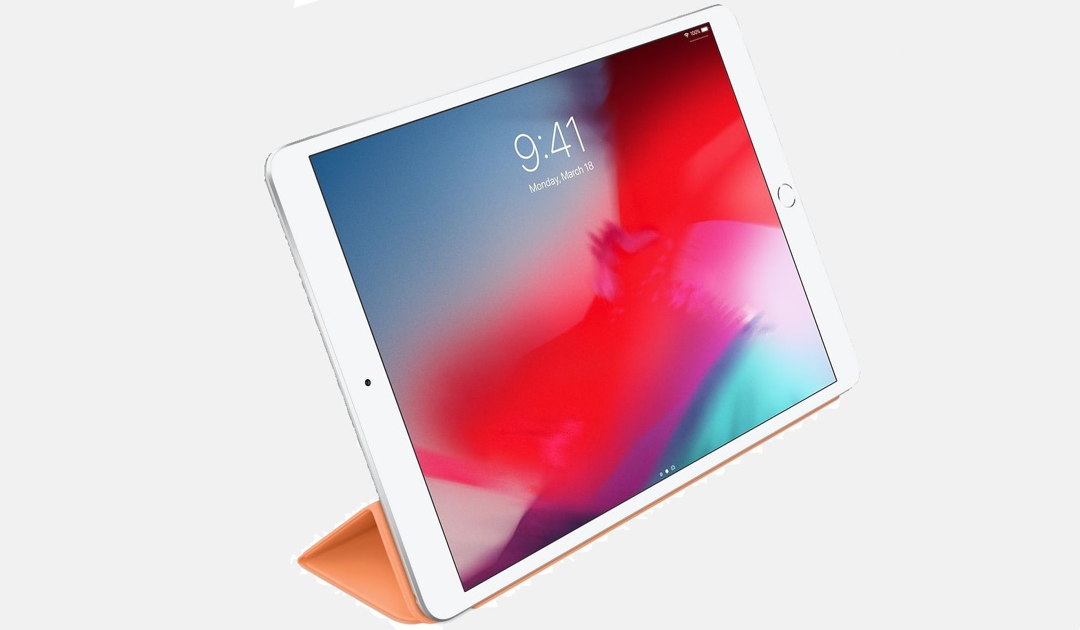 Here's the Smart Cover for the latest iPad models in papaya.