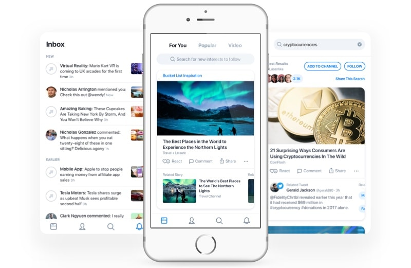 The Laserlike app used machine learning to find relevant news articles.