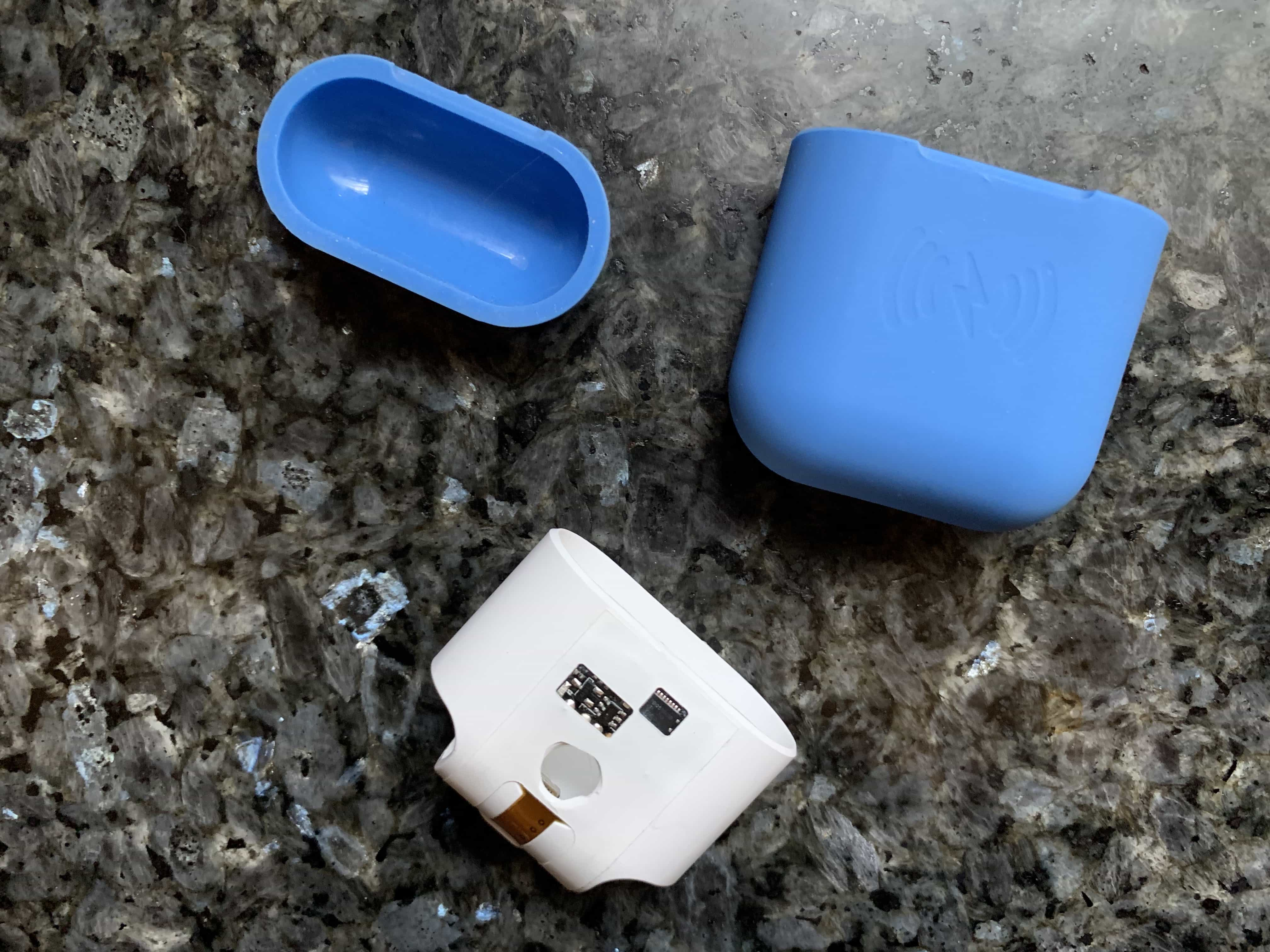 Whoopsie-daisy! Taking your AirPods case out of the SliQ silicone cover isn't that easy.