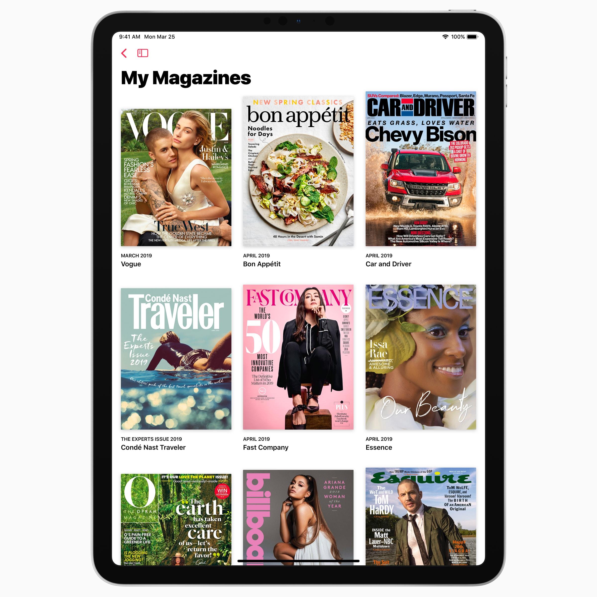 News+ magazines