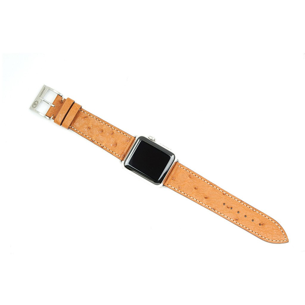 Clessant gold ostrich watch band -- every one looks different.
