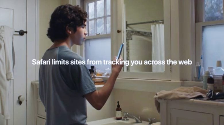 The Safari web browser won't let sites track you