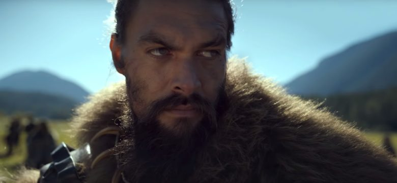 Jason Momoa does a lot of yelling and brooding