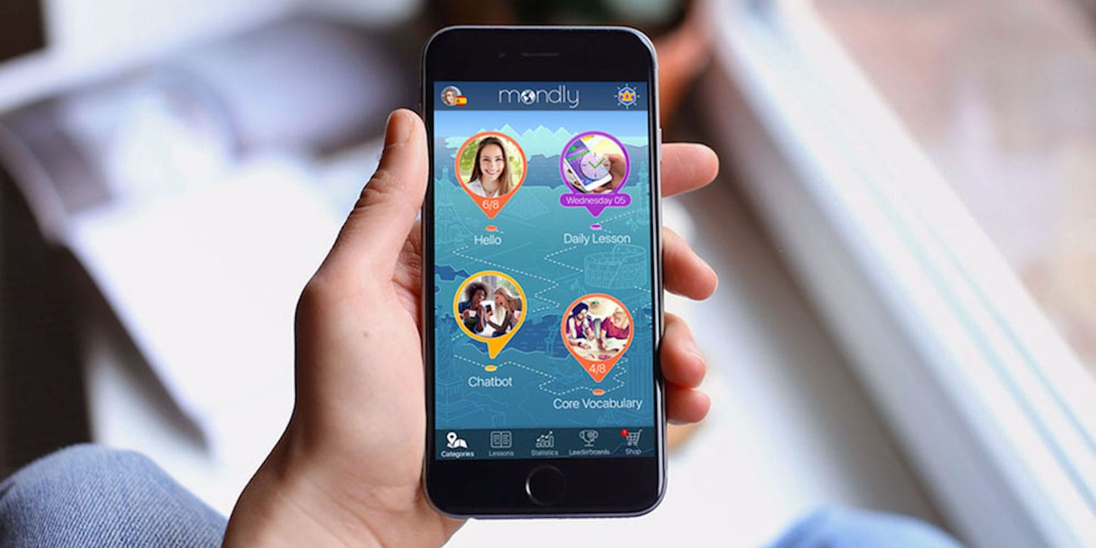 Using speech recognition, native speakers and even AR, this app takes mobile language learning to a new level.