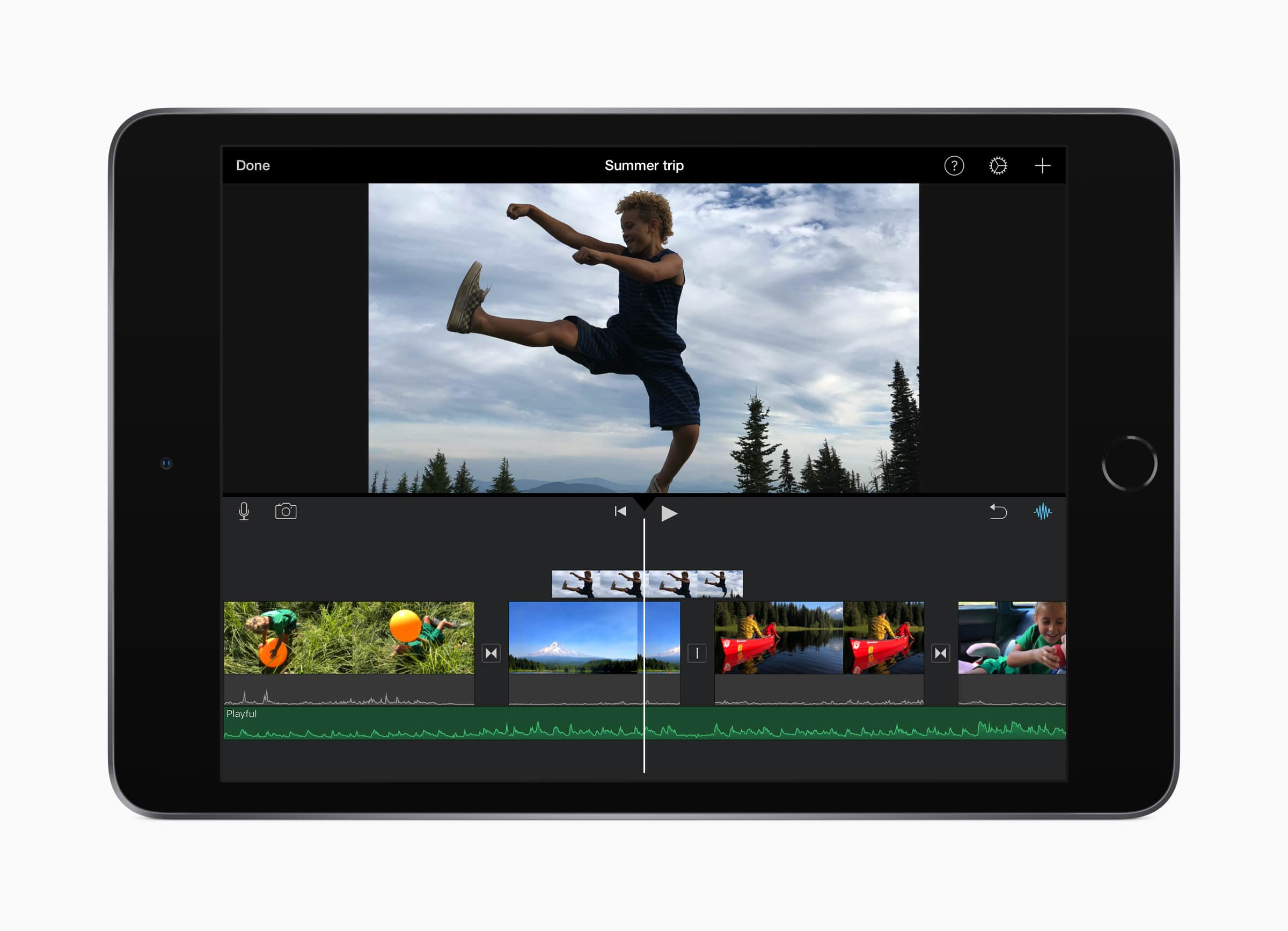 The new iPad mini can capture high-resolution video and photos. Plus, its powerful A12 Bionic chip makes editing 4K films easy and smooth, Apple says.