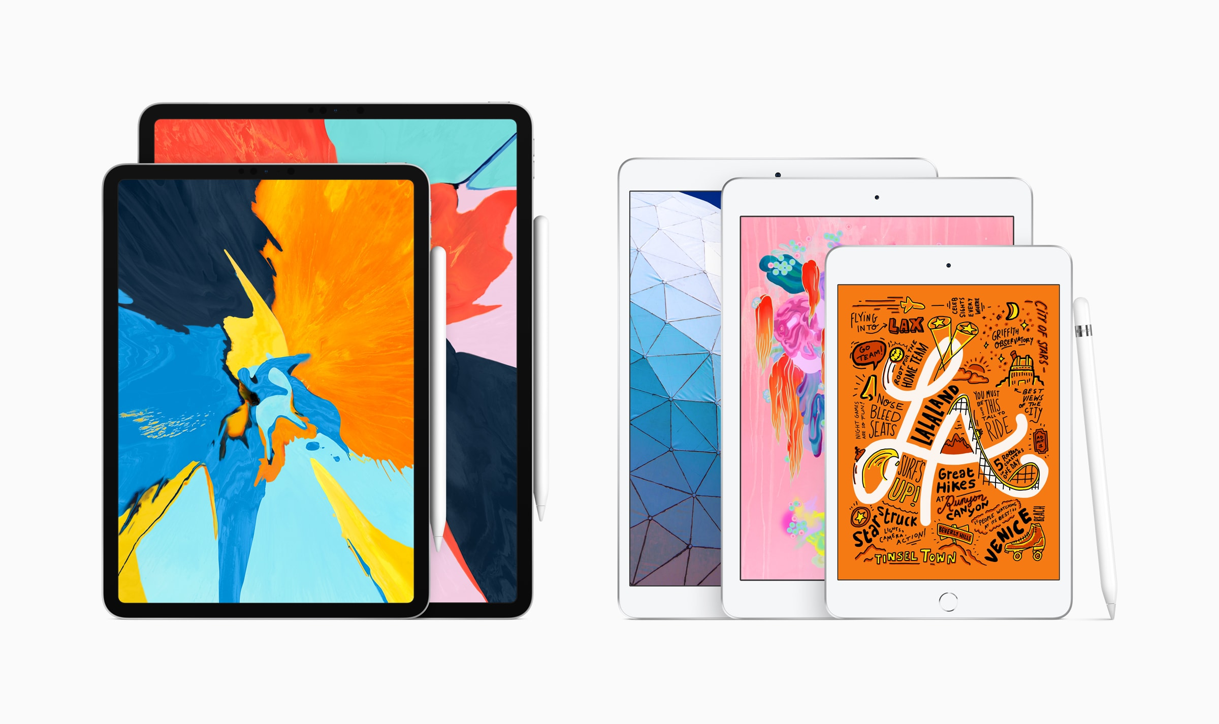 The complete iPad lineup now includes Apple Pencil support, best-in-class performance, advanced displays and all-day battery life, Apple says.