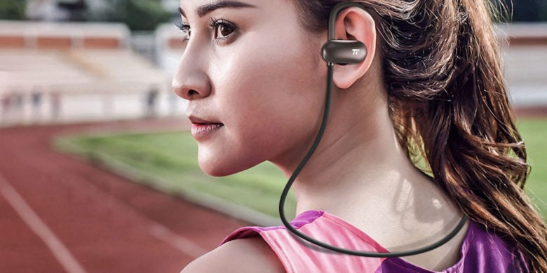 With Bluetooth convenience, 12 hour battery life and sweat resistance, these earbuds are ideal workout partners.