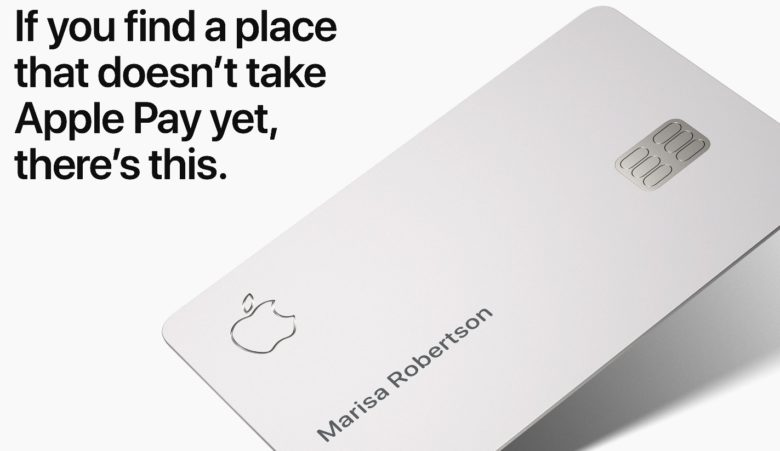 Apple's titanium credit card is not contactless