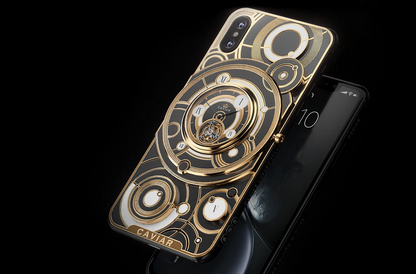 Opulent Custom iPhone XS Max Boasts its own Mechanical Watch