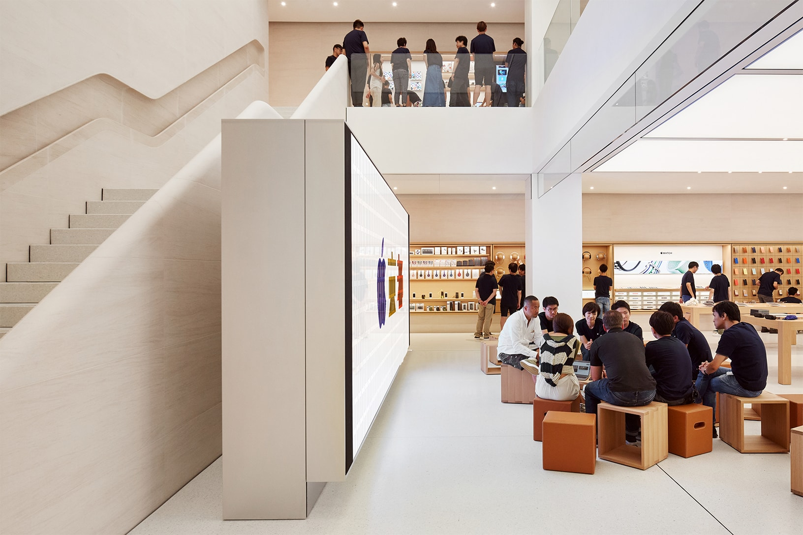 Apple Store video wall