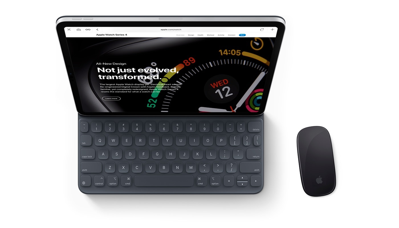 An iPad Pro with Smart Keyboard Folio and Magic Mouse, or a MacBook by another name?
