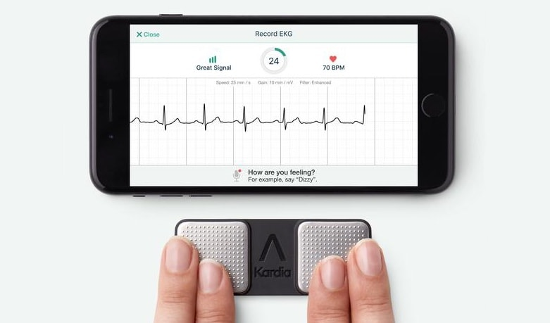 KardiaMobile lets an iPhone detect three types of heart problems.