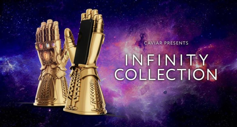 This Infinity Gauntlet is covered in gold and gems. It's also an iPhone wireless charger.