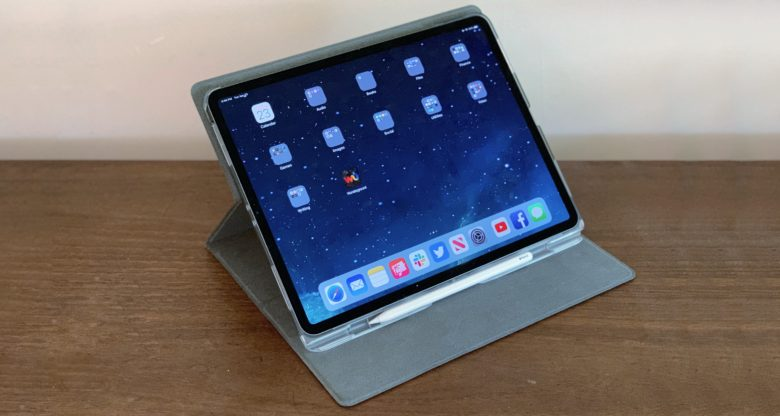 STM Atlas has a strong Apple Pencil holder, and holds up the the iPad Pro at a wide array of angles.