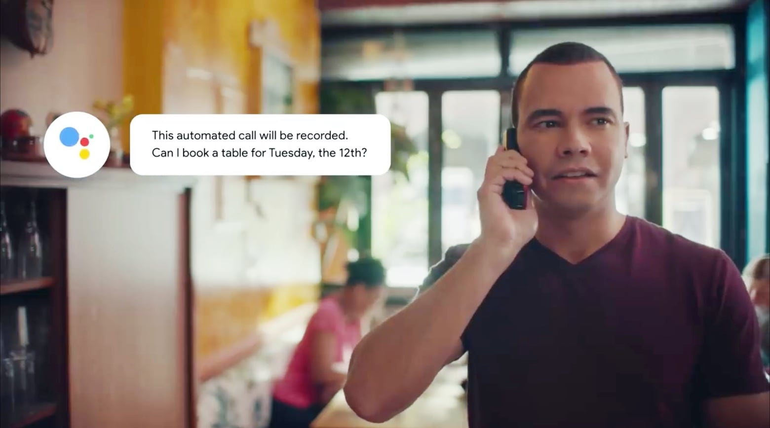 Google Duplex uses an AI to make very realistic phone calls on your behalf.