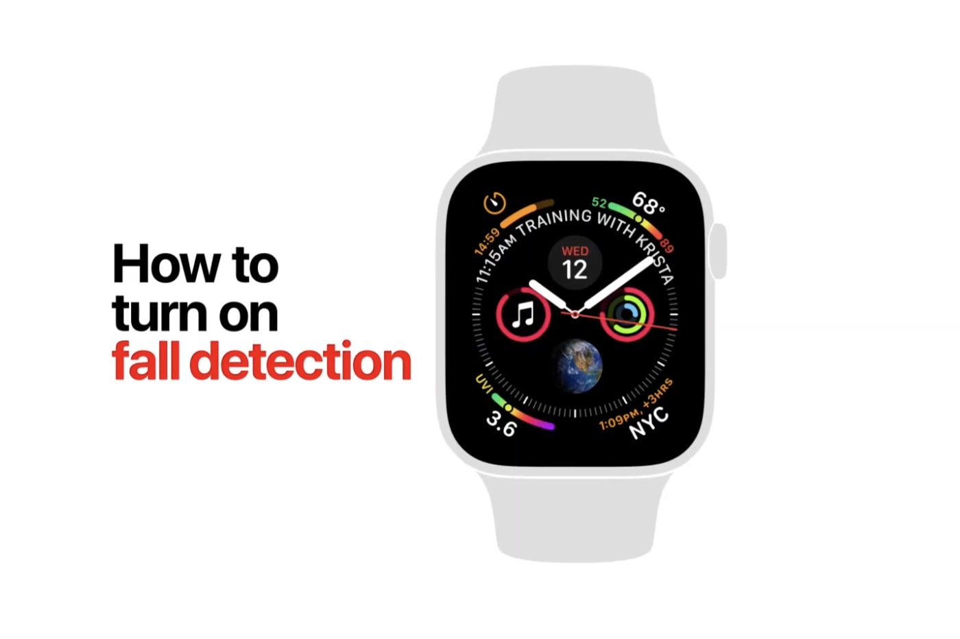 Fall detection ad from Apple