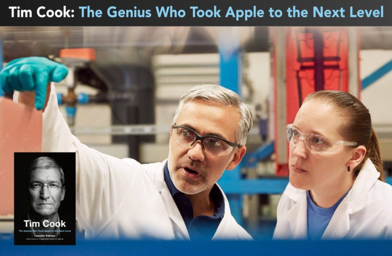 Two Apple operations workers in a factory
