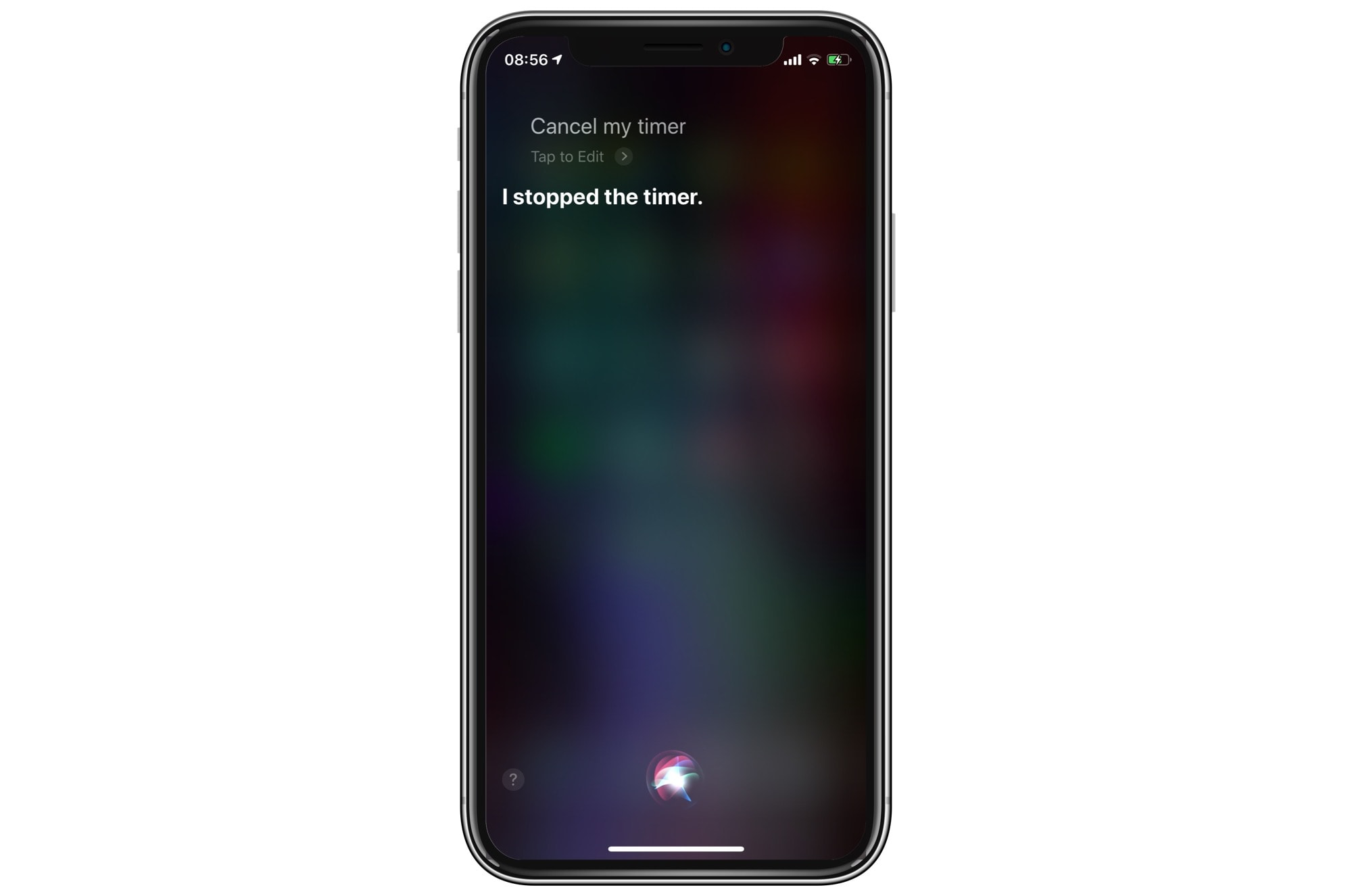 Siri can stop timers as well as starting them.