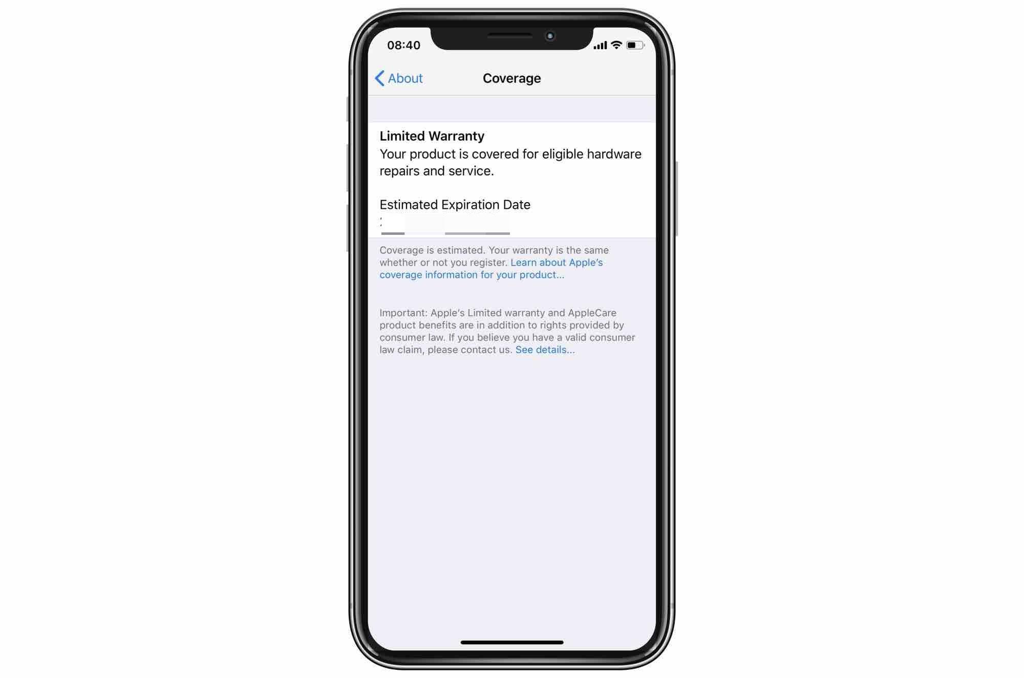 Aquí está la fecha de vencimiento de la garantía de su iPhone.
