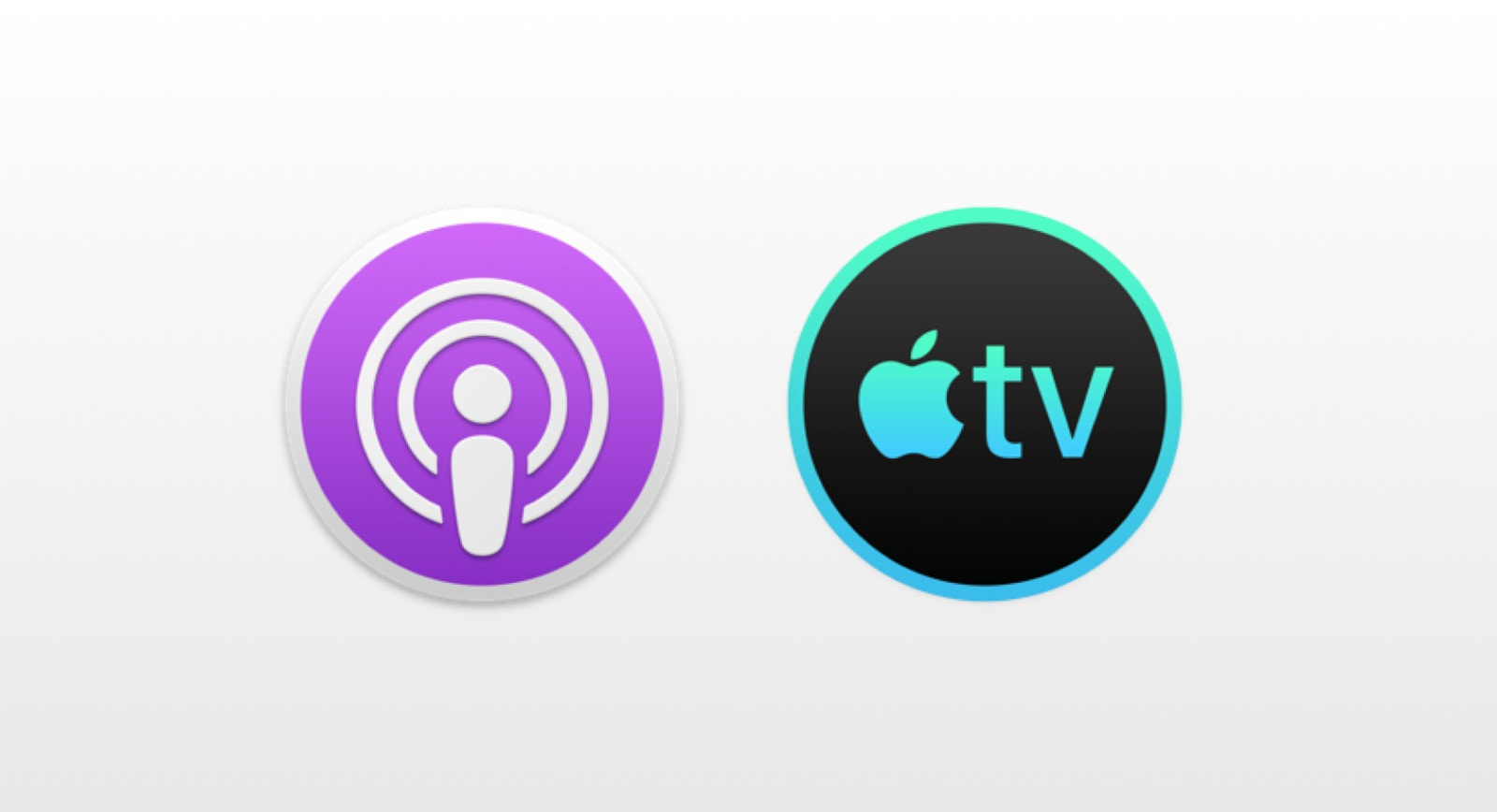 Podcasts TV icons for Mac