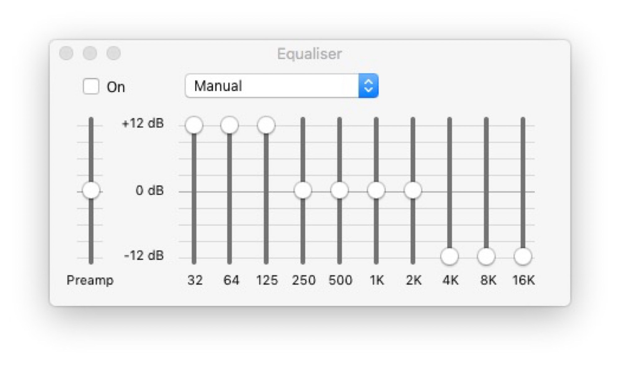 Don't try this EQ setting at home.
