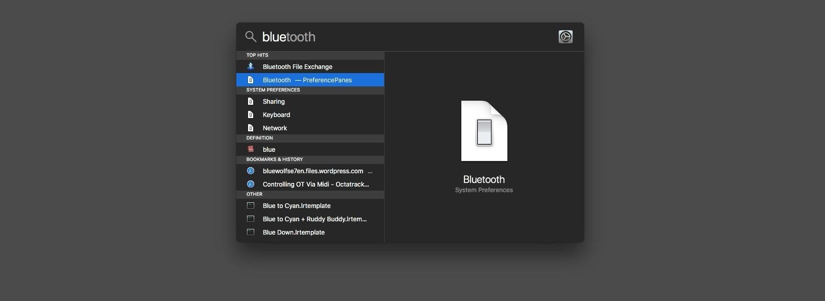 El Mac Spotlight es un gran lanzador de aplicaciones.