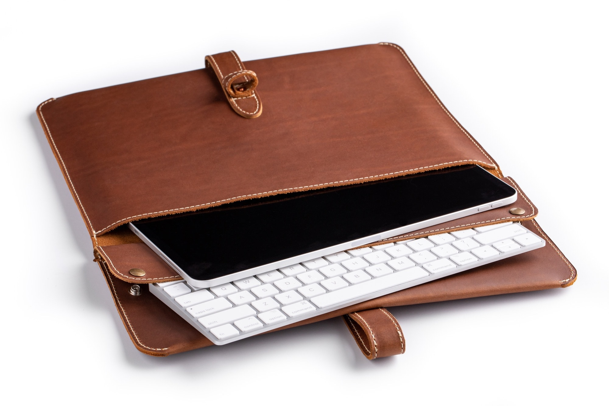The Pad & Quill Oxford iPad Sleeve offers plenty of storage space.