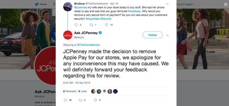 JCPenny Apple Pay
