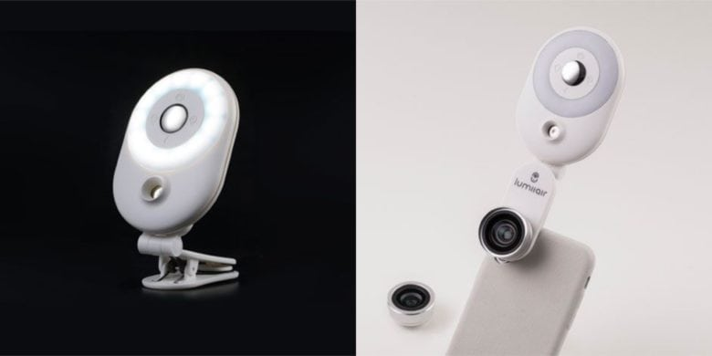 This beauty-oriented iPhone accessory adds a fisheye camera with LED light ring, humidifier for skincare, and more.