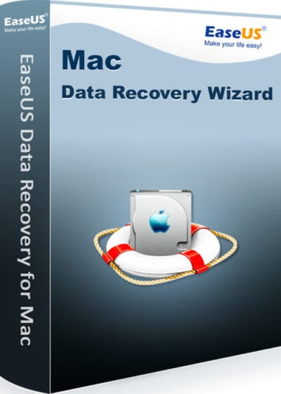 Mac Data Recovery Wizard by EaseUS recovers lost data.