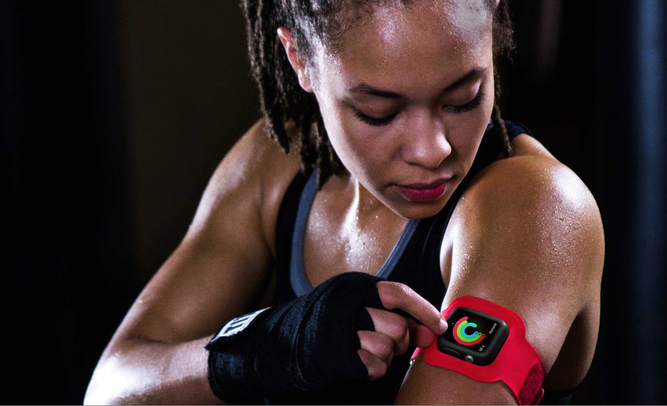 ActionSleeve maintains consistent contact with the bicep while still remaining in line of sight with a quick side glance.